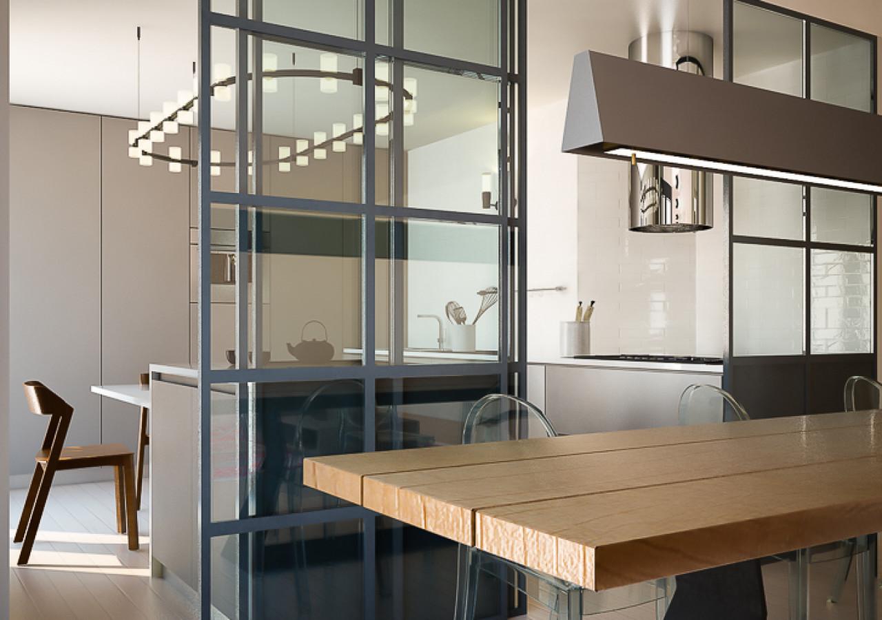 Render di progetto per ristrutturazione appartamento a Rimini