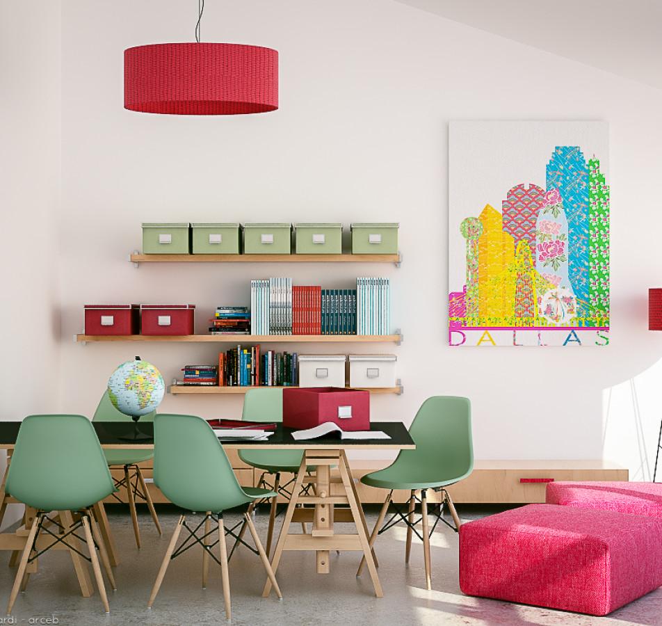 A creative workspace