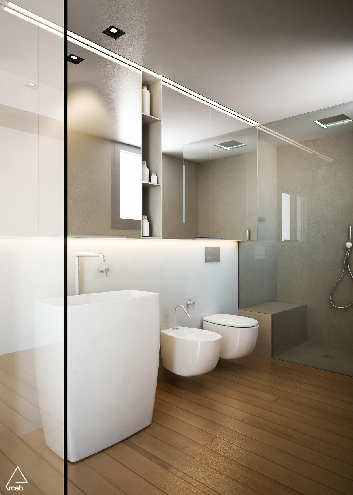 Arredo Bagno Romagna render e modellazione 3d - ambiente bagno e sanitari