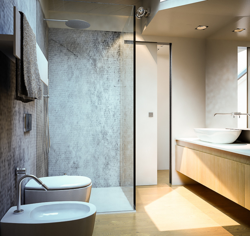 Due bagni ed una scala