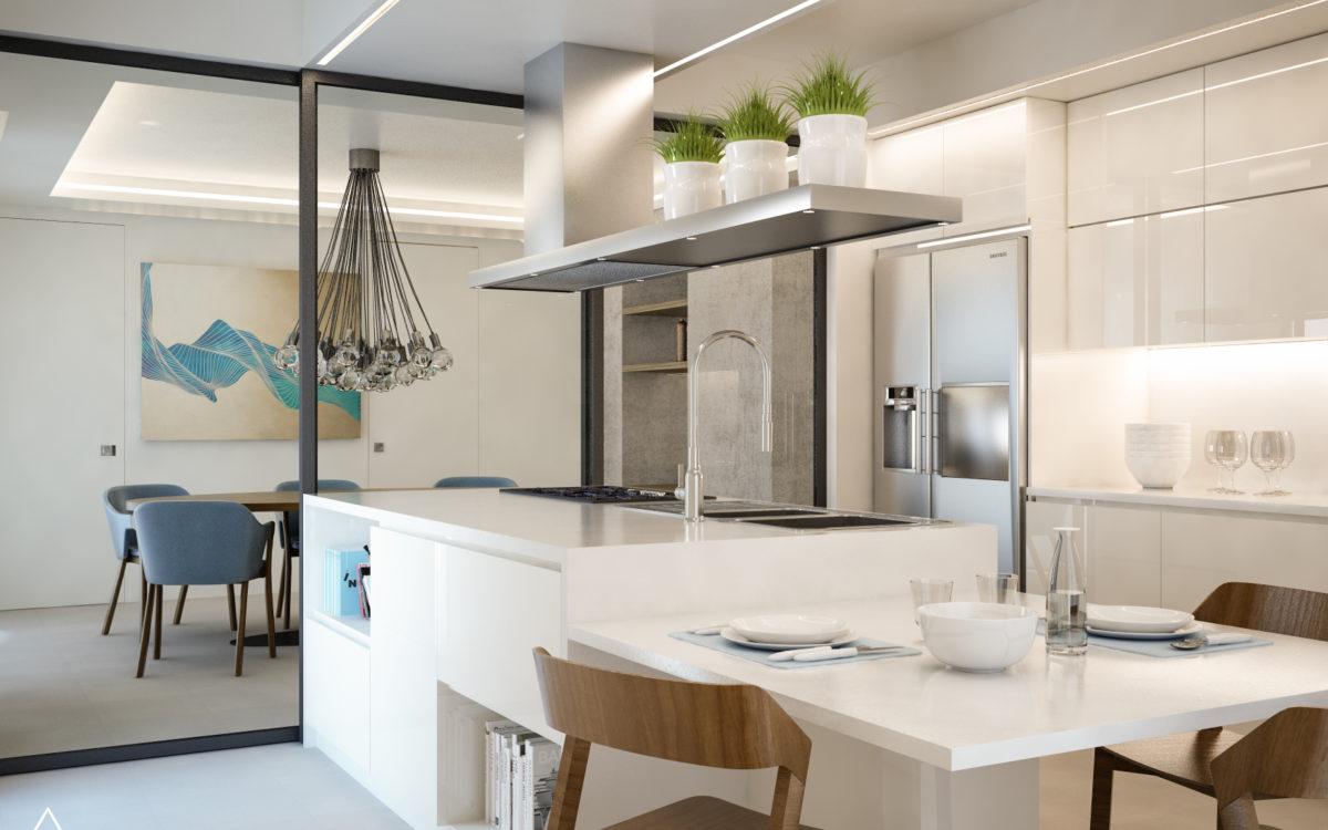 Render di Progetto - Simulazione - Progetto Virtuale - Cucina