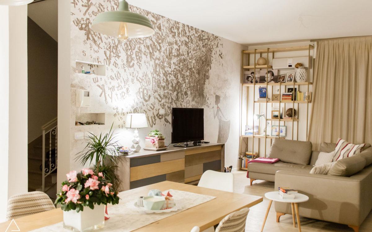 Restyling Appartamento anni '70 - Soggiorno