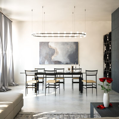 zona pranzo appartamento Cesena
