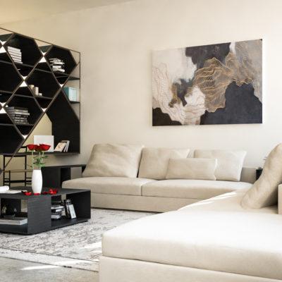 Render di Progetto per Soggiorno Appartamento a Cesena