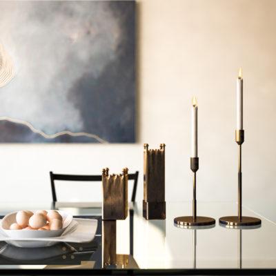 Render di Progetto per allestimento zona pranzo appartamento Cesena