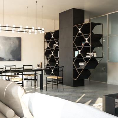 Zona Giorno per Appartamento Centro Storico Cesena