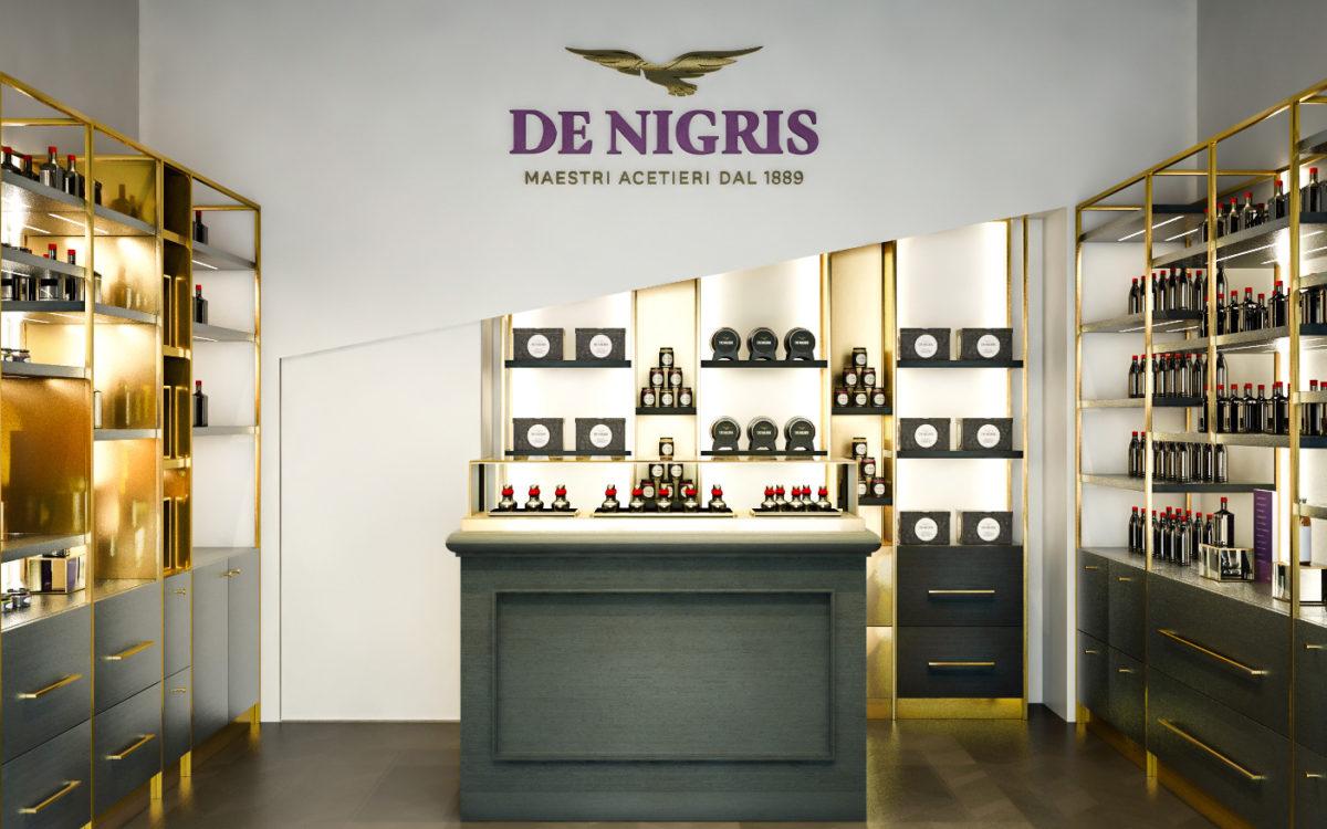 Render di Progetto del Flagship De Nigris a Milano per CBA Design