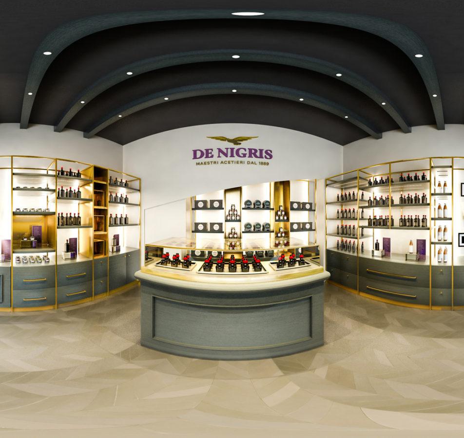 De Nigris Rebranding – Modellazione 3D e Render per due nuovi punti vendita