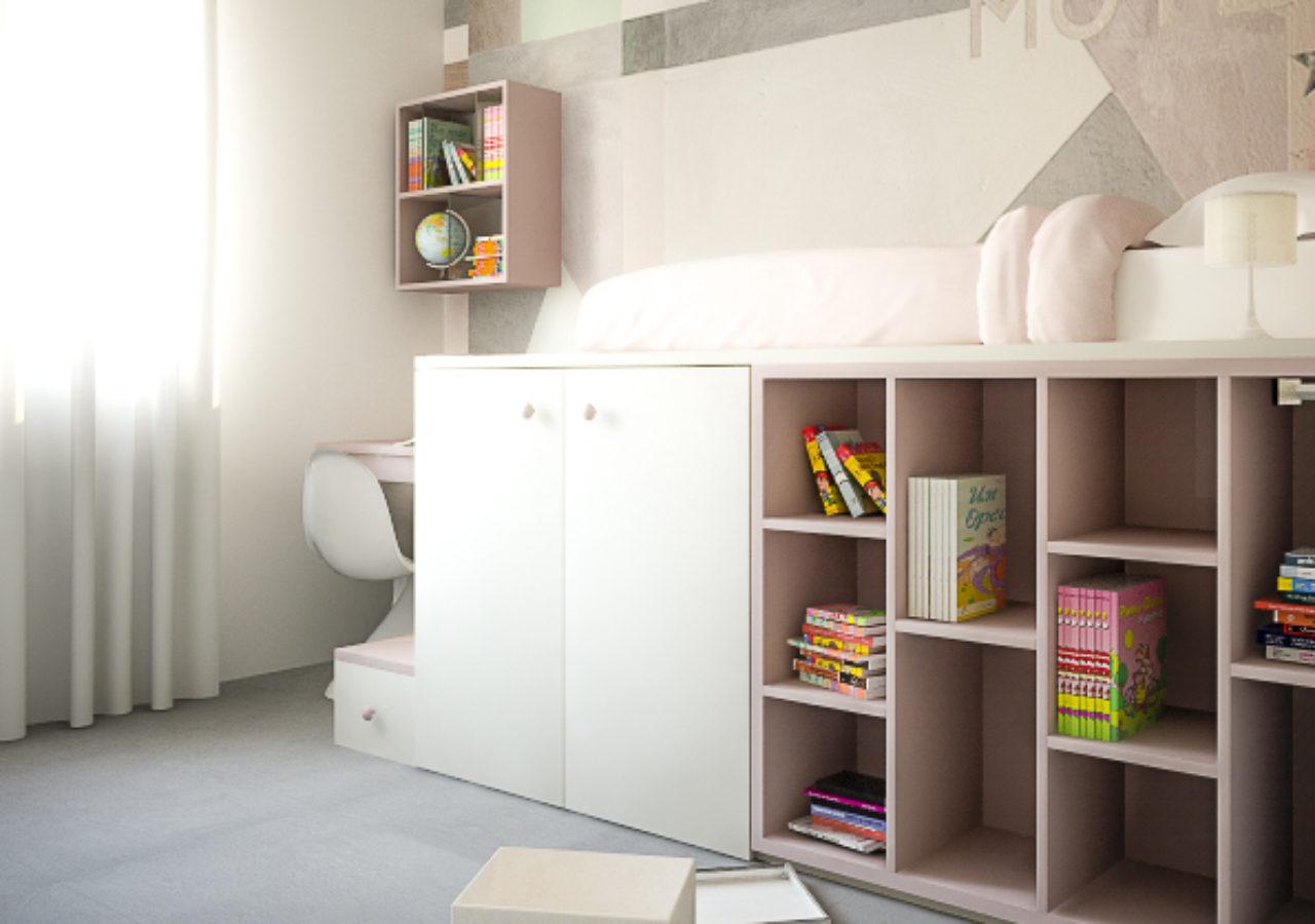 Arredo su Misura camera, letto e scrivania integrati