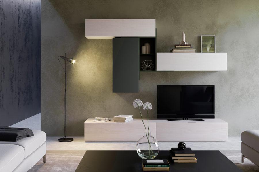 Composizione Living - Modellazione 3d e Render per catalogo azienda arredamento.